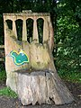 Sculpture of Newbridge from Tree trunk - geograph.org.uk - 1005826.jpg