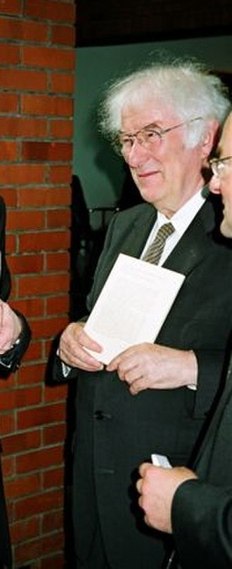 2004 in poetry - Seamus Heaney visiting Kraków, Poland in August of this year