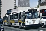 Seattle 1979 MAN articulated bus on Lenora St in 1994.jpg