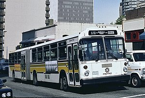 AM General - A MAN articulated bus in Seattle that was completed by AM General