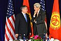 Secretary Kerry Chats With Kyrgyz Foreign Minister Abdyldaev Before Their Meeting in New York City (21898561111).jpg