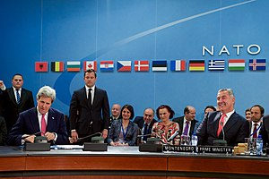 NATO - NATO foreign ministers and Montenegro's Prime Minister Milo Đukanović have signed a protocol on Montenegro's accession to NATO on 19 May 2016