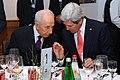 Secretary Kerry Speaks With Israeli President Peres in Davos (12116433205).jpg
