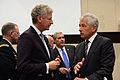 Secretary of Defense Chuck Hagel, right, speaks with Belgian Minister of Defense Pieter De Crem prior to a meeting of the non-NATO International Security Assistance Force contributing nations at NATO headquarte 131023-M-EV637-072.jpg