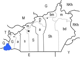 Semnan Province - Image: Semnan admin map
