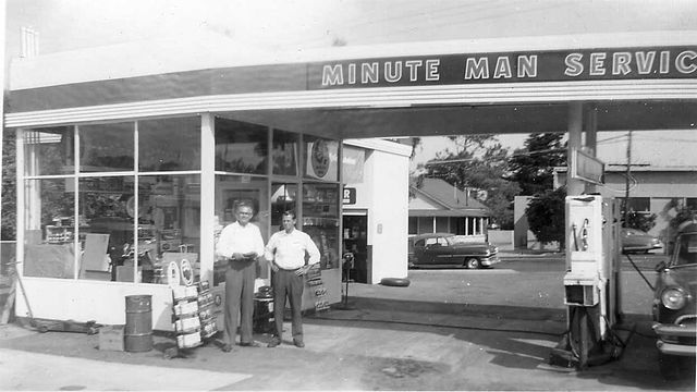 1950 service station. Photo via Wikipedia