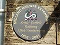 Settle Railway Station, Plaque - geograph.org.uk - 890702.jpg
