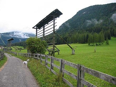 Un arfa presso Sesto in val Pusteria