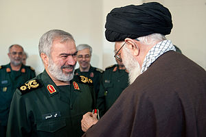 2016 U.S.–Iran naval incident - General Ali Fadavi receiving the Order of Fath from the Supreme Leader of Iran.