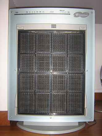 Air purifier - The same air purifier, cover removed.
