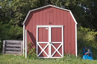 Shed - Garden shed with gambrel roof