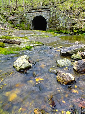 Conestoga Township, Lancaster County, Pennsylvania - Grubb Run within Shenks Ferry Wildflower Preserve in the township