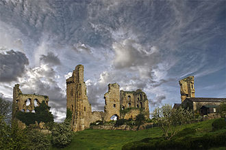 Percy–Neville feud - The earl of Salisbury's castle at Sheriff Hutton today