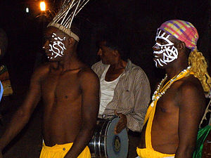 Siddi - Siddi Folk Dancers, at Devaliya Naka, Sasan Gir, Gujarat.