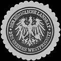 Siegelmarke Der K. Landrat des Kreises Westprignitz W0358370.jpg