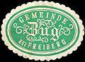 Siegelmarke Gemeinde Zug bei Freiberg W0311260.jpg