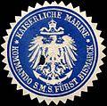 Siegelmarke Kaiserliche Marine - Kommando S. M. S. Fürst Bismarck W0216044.jpg