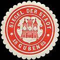 Siegelmarke Siegel der Stadt - Guben W0260575.jpg