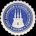 Siegelmarke Städtische Gas - Wasser - und Elektrizitätswerke - Altona W0234889.jpg