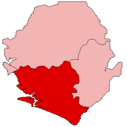 Location of Southern Province