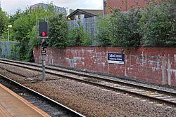 Signal, Salford Crescent railway station (geograph 4500616).jpg