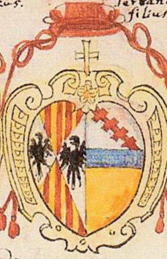 Simeone Tagliavia d'Aragonia - Coat of arms of Cardinal Simeone Tagliavia d'Aragonia