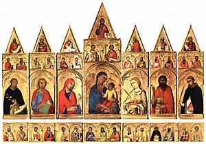 Saint Catherine of Alexandria Polyptych - Image: Simone Martini 012