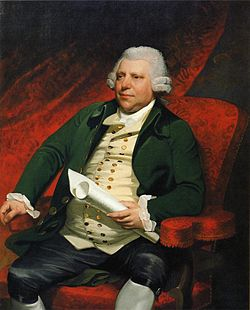 Sir Richard Arkwright. Mather Brown festménye, New Britain Museum of American Art