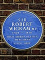 Sir Robert Wigram MP 1744-1830 High Sheriff of Essex Merchant lived here.jpg