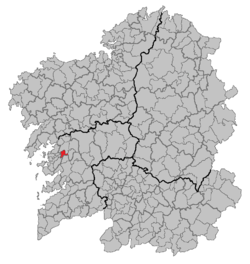 Situation of Portas within Galicia