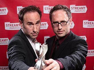 Sklar Brothers - Randy Sklar (left) and Jason Sklar (right) at the Streamy Awards 2010