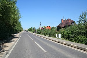 Odintsovsky District - Skolkovskoye Highway in the village of Skolkovo in Odintsovsky District