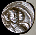 Sliver drachma of Darius I of Media Atropatene.JPG