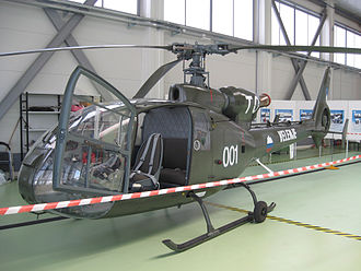Slovenian Air Force and Air Defence - A former SOKO SA341 Gazelle on display at Cerklje air base