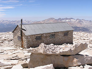 Mount Whitney - The Smithsonian Institution Shelter on Whitney's summit.