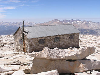 Mount Whitney - The Smithsonian Institution Shelter on Whitney's summit