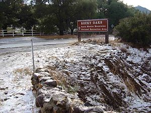Santa Monica Mountains - Snow in the Santa Monica Mountains