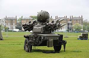 Joint Ground Based Air Defence Headquarters - A Rapier FSC Ground-Based Air Defence system at Blackheath, London on 2 May 2012 during an exercise to prepare for the 2012 Olympic Games