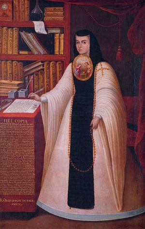 María Luisa Manrique de Lara y Gonzaga - Sor Juana Inés de la Cruz, 1680, by Juan de Miranda