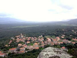 A panoramic view of Sotta from Punta