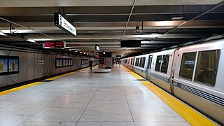 Embarcadero station Combined rapid transit and light rail station in San Francisco