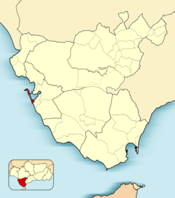 Municipal location in the Province o Cádiz
