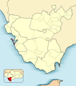 Action of 26 April 1797 - Image: Spain Cadiz Municipality of Cadiz