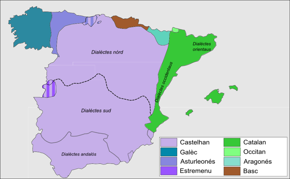 Spanish dialects in Spain-oc