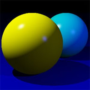 Specular highlight - Specular highlights on a pair of spheres.