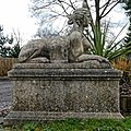 Sphinx sculpture at The Wheatsheaf, Lower Beeding, West Sussex, England.jpg
