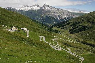 Splügen Pass - The Splügen Pass from the Swiss side