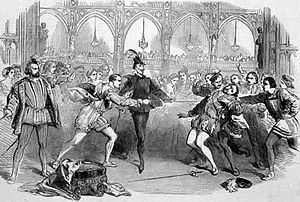 """Faust (Spohr) - Scene from Spohr's """"Faust"""" at the Royal Italian opera. The Illustrated London News Supplement, 31 July 1852"""