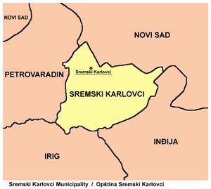 sremski karlovci mapa Sremski Karlovci   Wikipedia sremski karlovci mapa