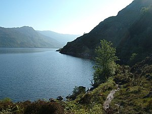 Loch Morar - The banks of the loch are steep at the eastern end